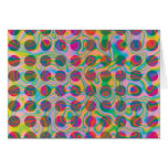 Psychedelic Rainbow Spots Pattern Greeting Card