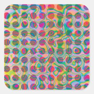 Psychedelic Rainbow Spots Pattern Sticker