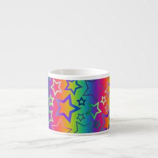 Psychedelic Rainbow Stars Espresso Cup