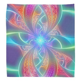 Psychedelic Rainbow Swirls Fractal Pattern Do-rag