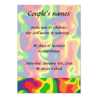 Psychedelic rainbow wedding card
