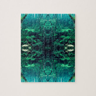Psychedelic Rainforest Jigsaw Puzzle