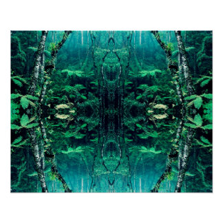 Psychedelic Rainforest Poster