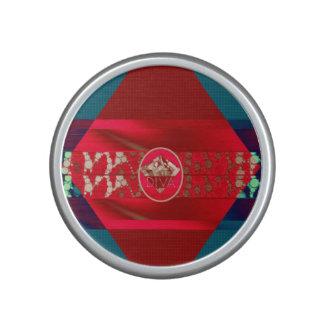 Psychedelic Red Diva Diamond Bluetooth Speaker