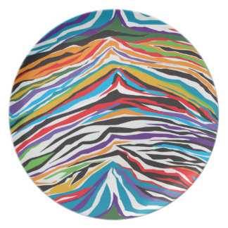 Psychedelic  Retro Plate