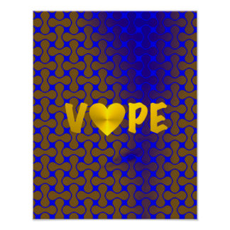 Psychedelic Retro Vape Heart Poster