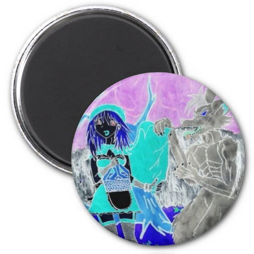 Psychedelic Riding Hood 6 Cm Round Magnet