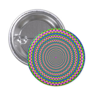 Psychedelic Rings Button