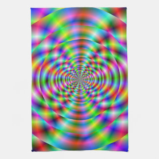 Psychedelic Rings Kitchen Towels