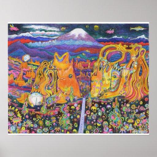 Psychedelic Roadtrip 16x20 print