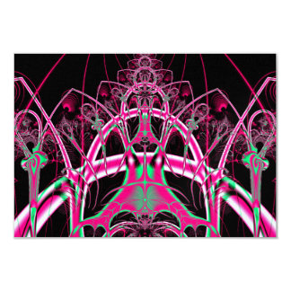Psychedelic Rollercoaster Tunnel Fractal 9 Cm X 13 Cm Invitation Card
