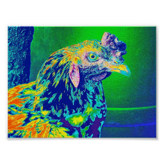 """Psychedelic Rooster"" Poster"