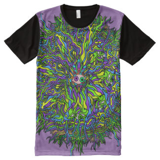 Psychedelic Roots Eye T-shirt All-Over Print T-Shirt