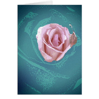 psychedelic rose card