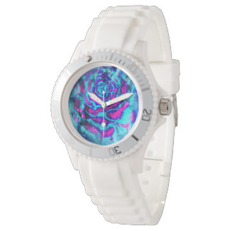 Psychedelic rose watch