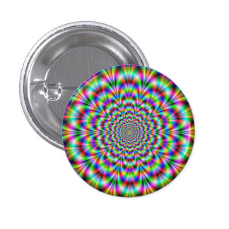 Psychedelic Rosette Button