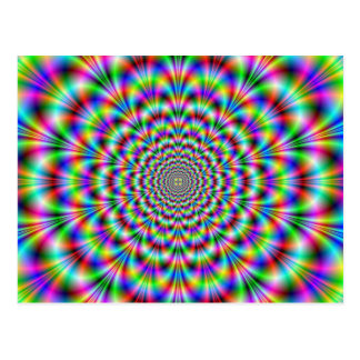 Psychedelic Rosette Postcard