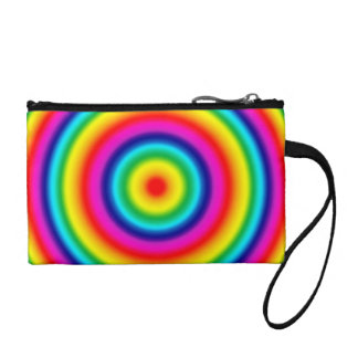 Psychedelic Round Circles Rainbow Pattern Coin Purse