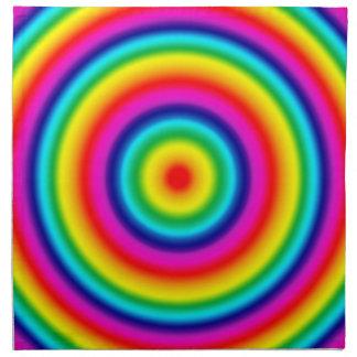 Psychedelic Round Circles Rainbow Pattern Napkin
