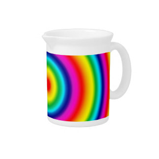 Psychedelic Round Rainbow Pattern Pitcher