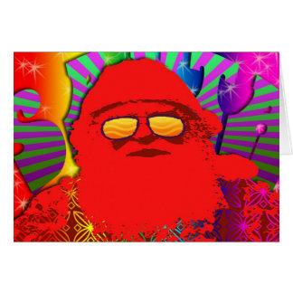 Psychedelic Santa - Cool Yule Card
