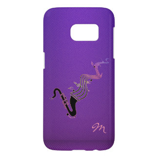Psychedelic Saxophone Purple Music Galaxy S7 Case