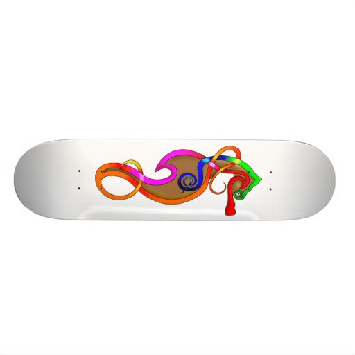 Psychedelic Seahorse Custom Skate Board