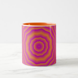 Psychedelic Seventies spider web Two-Tone Mug