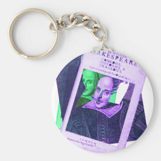 Psychedelic Shakespeare 1623 Keychains