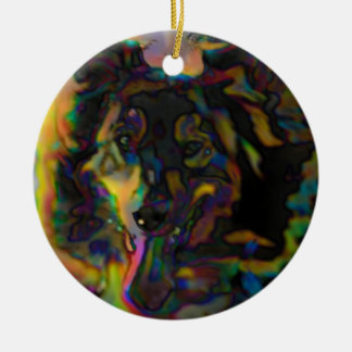 Psychedelic Shepherd Christmas Ornament