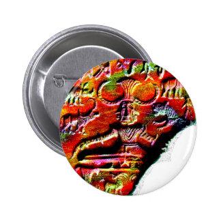 Psychedelic Shiva Pashupatinath Symbol Harappa f.p 6 Cm Round Badge