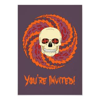Psychedelic Skull 13 Cm X 18 Cm Invitation Card