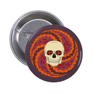 Psychedelic Skull Button