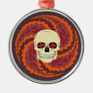 Psychedelic Skull Christmas Ornament