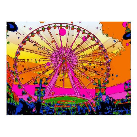 Psychedelic Sky Wheel Postcard