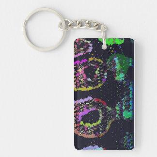 Psychedelic Snake Skin Keyring Double-Sided Rectangular Acrylic Key Ring