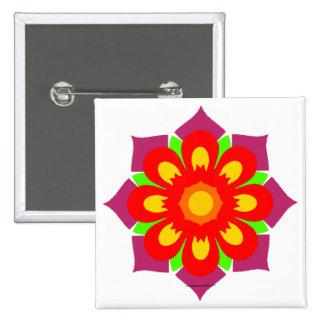 Psychedelic Snowflake 15 Cm Square Badge