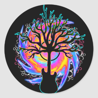 """""""Psychedelic Sonic Cyclone"""" surreal guitar Sticker"""
