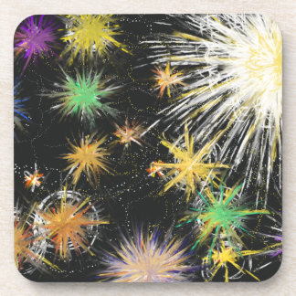 Psychedelic Space Star Fantasy Abstract Art Design Coaster