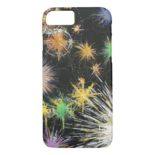 Psychedelic Space Star Fantasy Abstract Art Design iPhone 8/7 Case