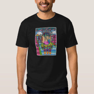 Psychedelic Spaceship to the Moon T-shirt
