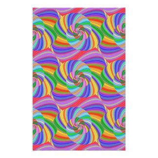 Psychedelic spiral 14 cm x 21.5 cm flyer