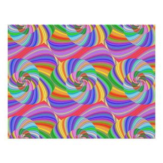 Psychedelic spiral 21.5 cm x 28 cm flyer