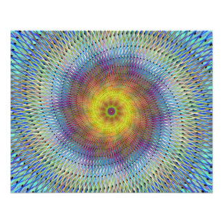 Psychedelic spiral 11.5 cm x 14 cm flyer