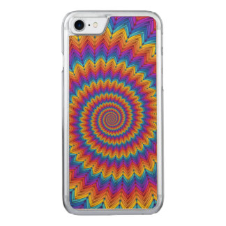 Psychedelic Spiral iPhone 6 Wood Carved iPhone 8/7 Case