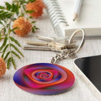 Psychedelic Spiral Labyrinth Key Chain