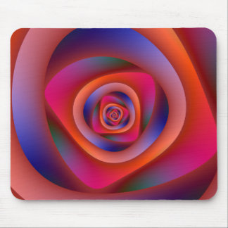 Psychedelic Spiral Labyrinth Mousepad