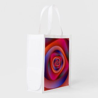 Psychedelic Spiral Labyrinth Reusable Grocery Bag