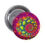 Psychedelic Spiral Neon Decorative Abstract Art Buttons