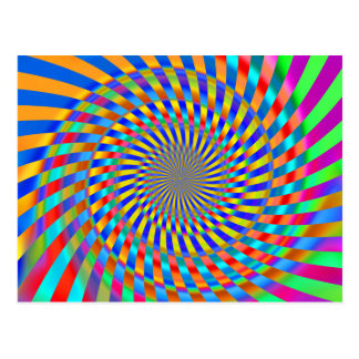 Psychedelic Spiral Pattern: Postcard